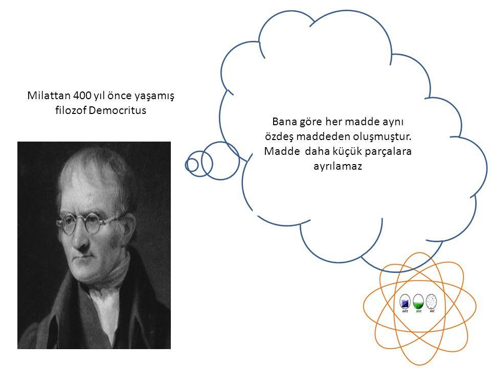 Milattan 400 yıl önce yaşamış filozof Democritus