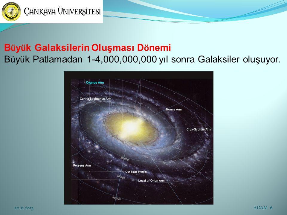 Büyük Galaksilerin Oluşması Dönemi