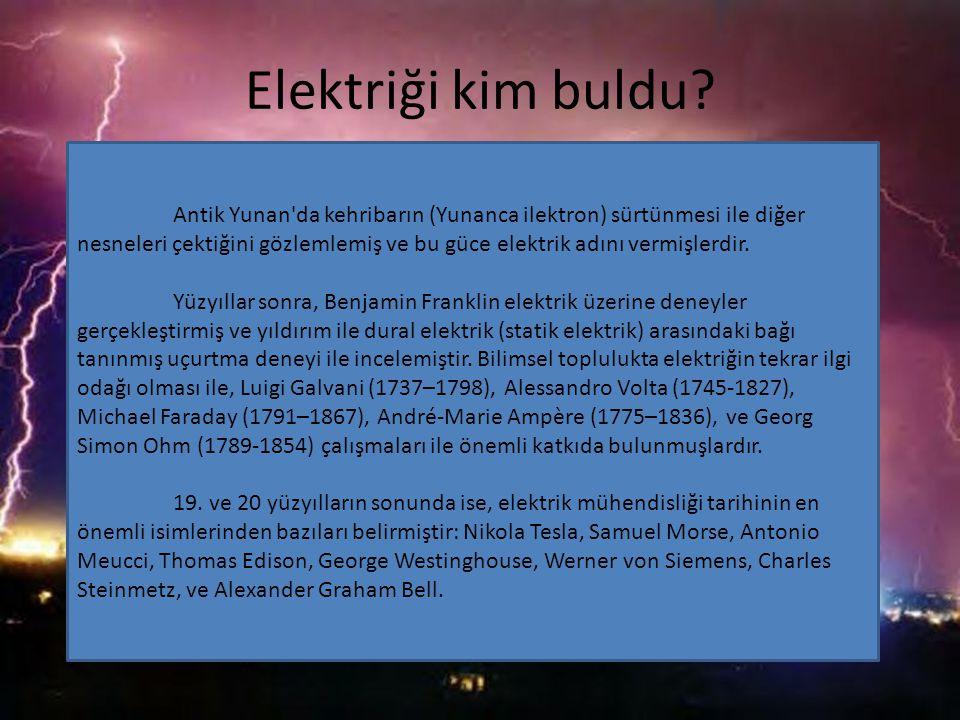 Elektriği kim buldu