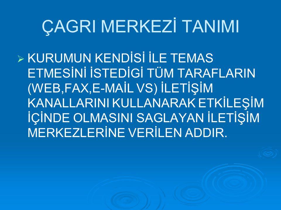ÇAGRI MERKEZİ TANIMI