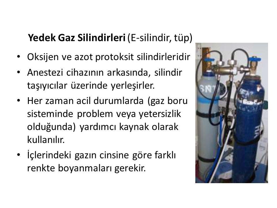 Yedek Gaz Silindirleri (E-silindir, tüp)