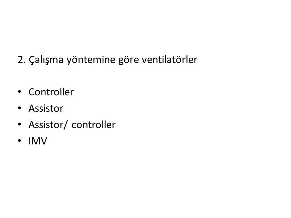 2. Çalışma yöntemine göre ventilatörler