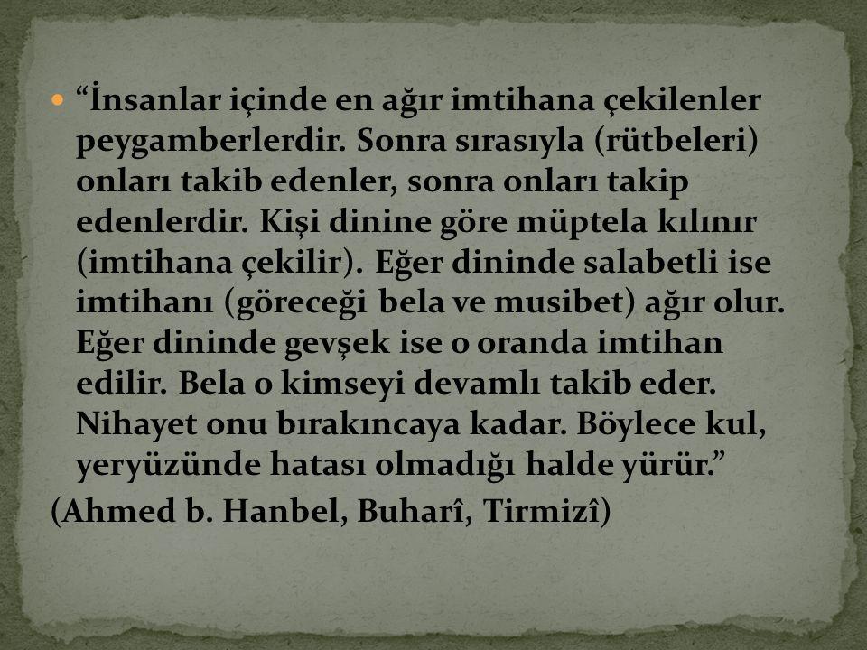 (Ahmed b. Hanbel, Buharî, Tirmizî)