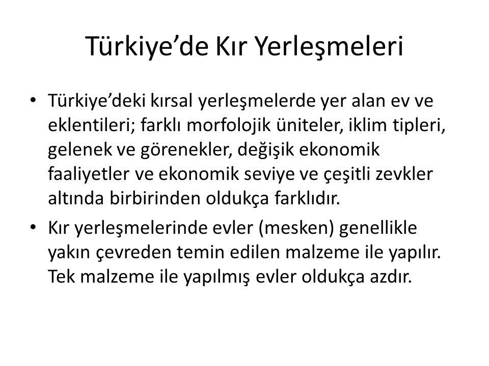 Türkiye'de Kır Yerleşmeleri