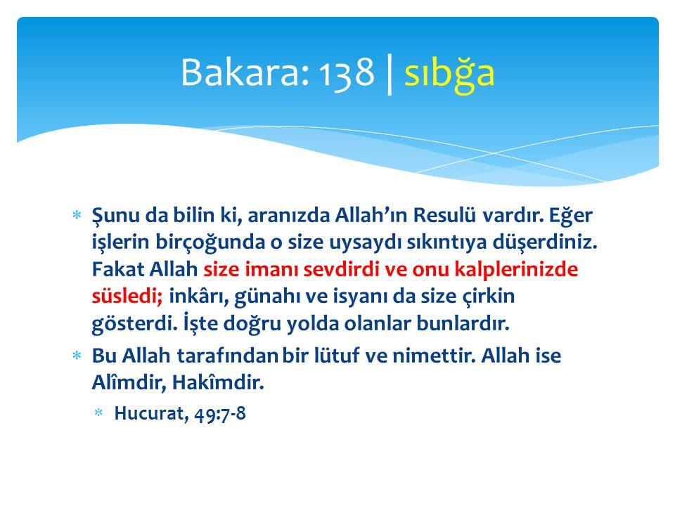 Bakara: 138 | sıbğa