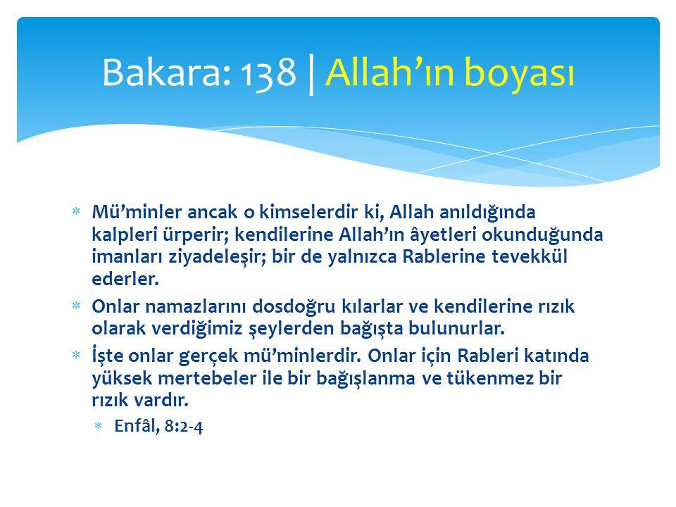Bakara: 138 | Allah'ın boyası