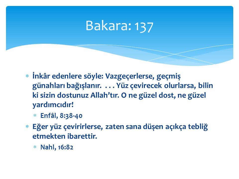 Bakara: 137