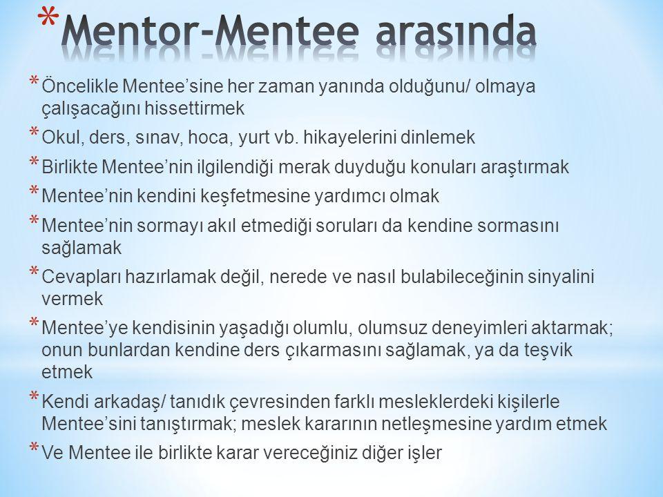 Mentor-Mentee arasında