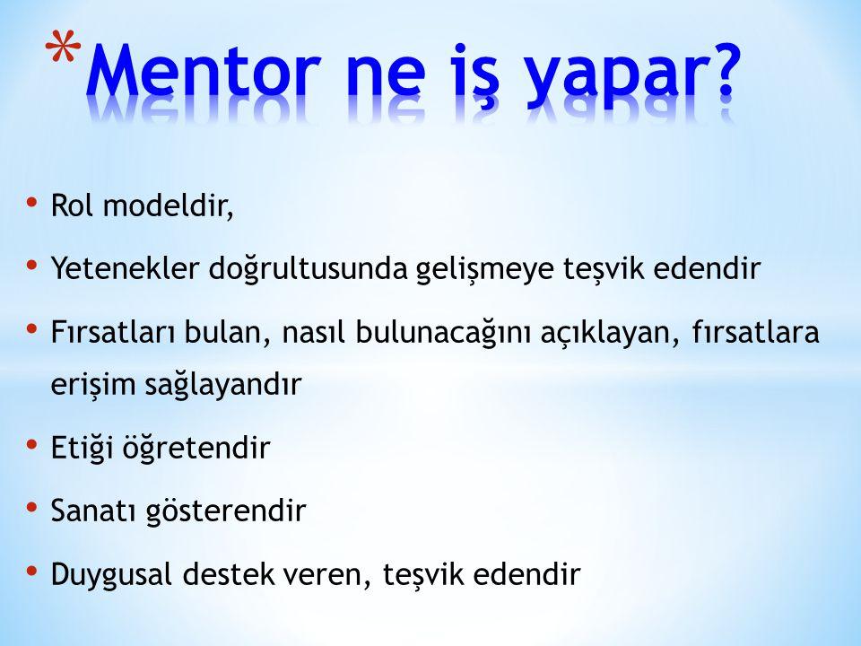 Mentor ne iş yapar Rol modeldir,