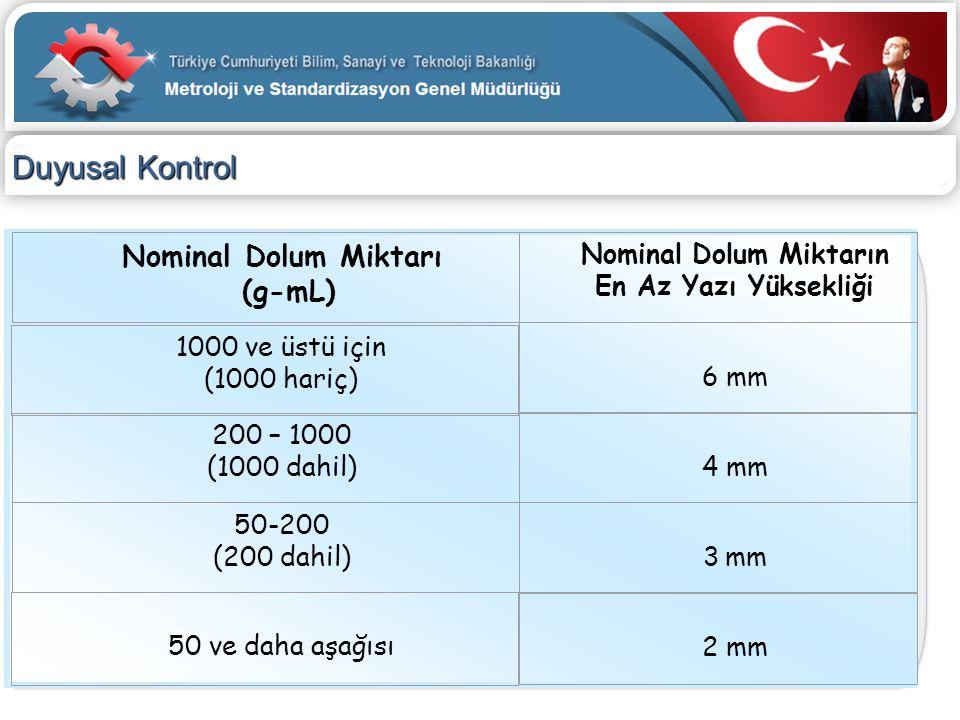 Nominal Dolum Miktarın
