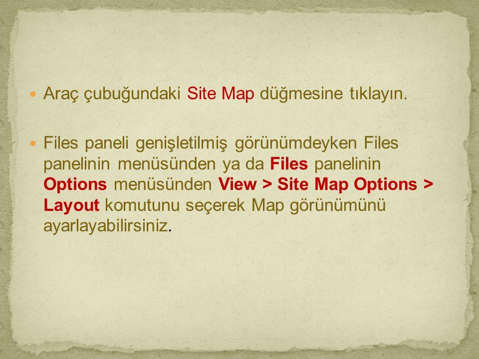 Araç çubuğundaki Site Map düğmesine tıklayın.