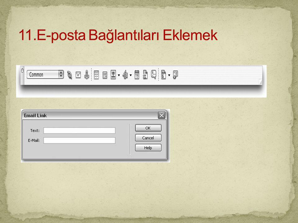 11.E-posta Bağlantıları Eklemek