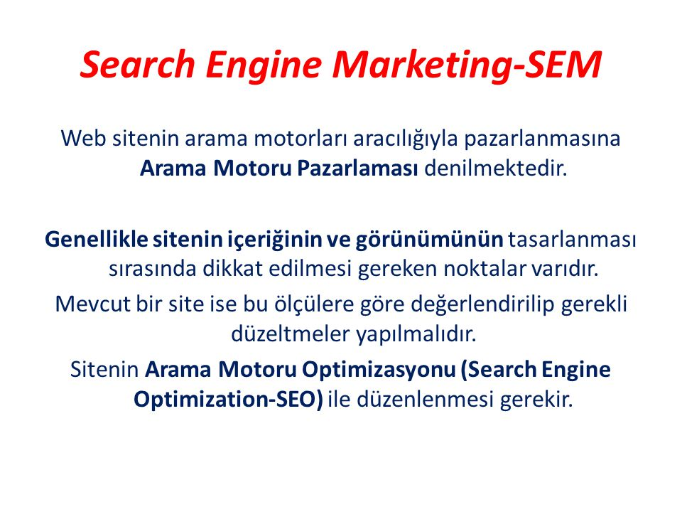 Search Engine Marketing-SEM