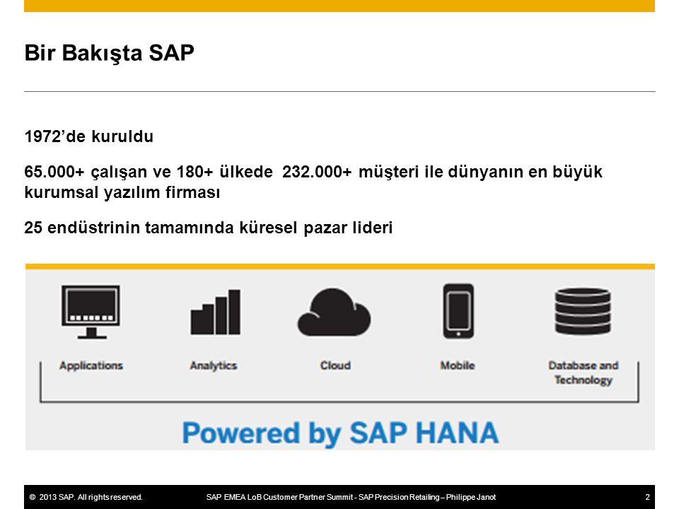 Bir Bakışta SAP 1972'de kuruldu