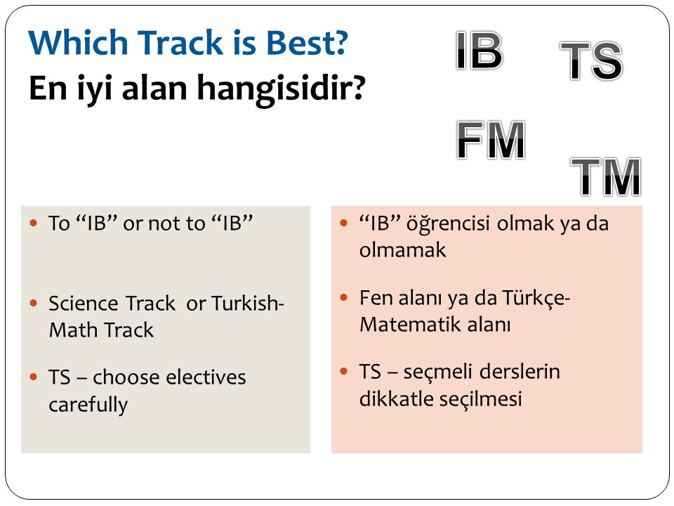 Which Track is Best En iyi alan hangisidir