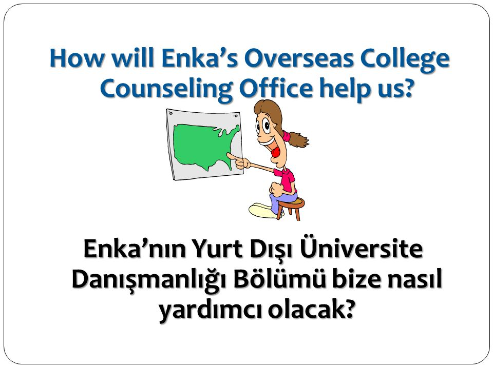 How will Enka's Overseas College Counseling Office help us