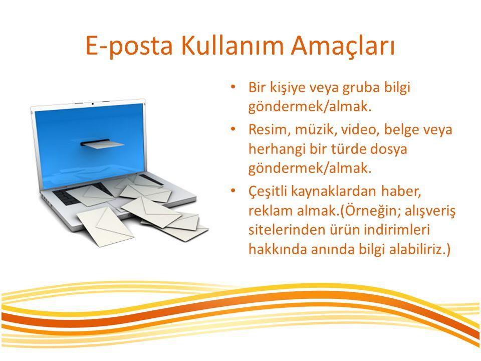 E-posta Kullanım Amaçları
