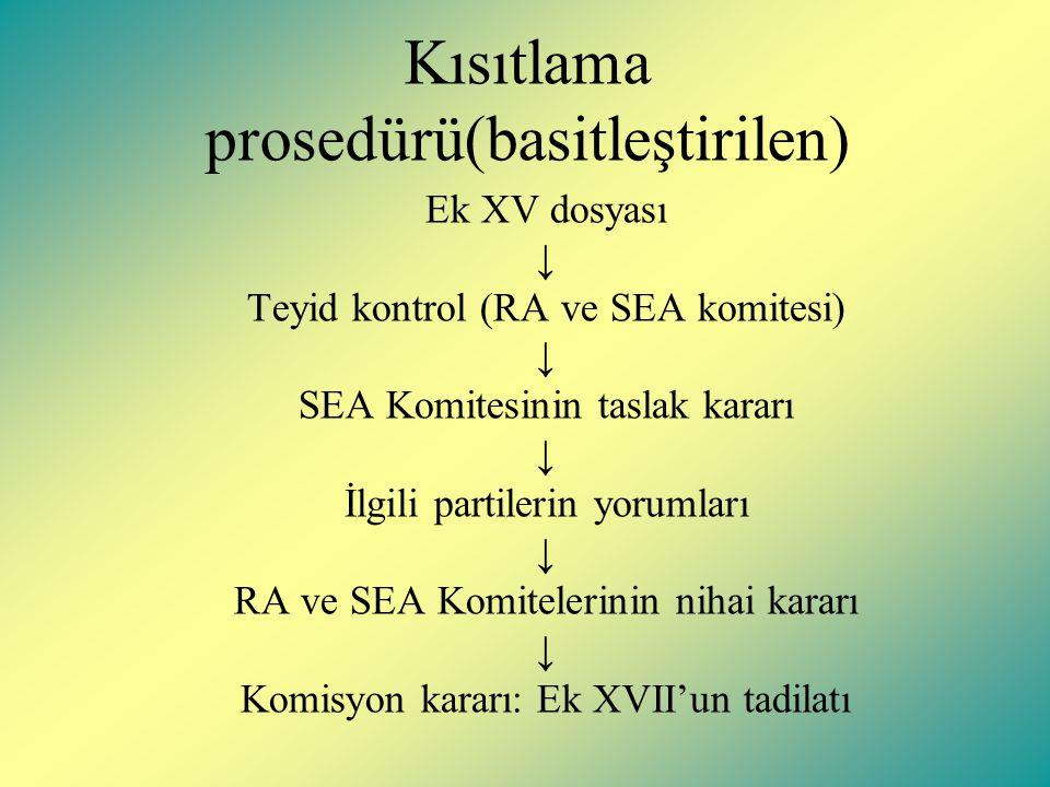 Kısıtlama prosedürü(basitleştirilen)