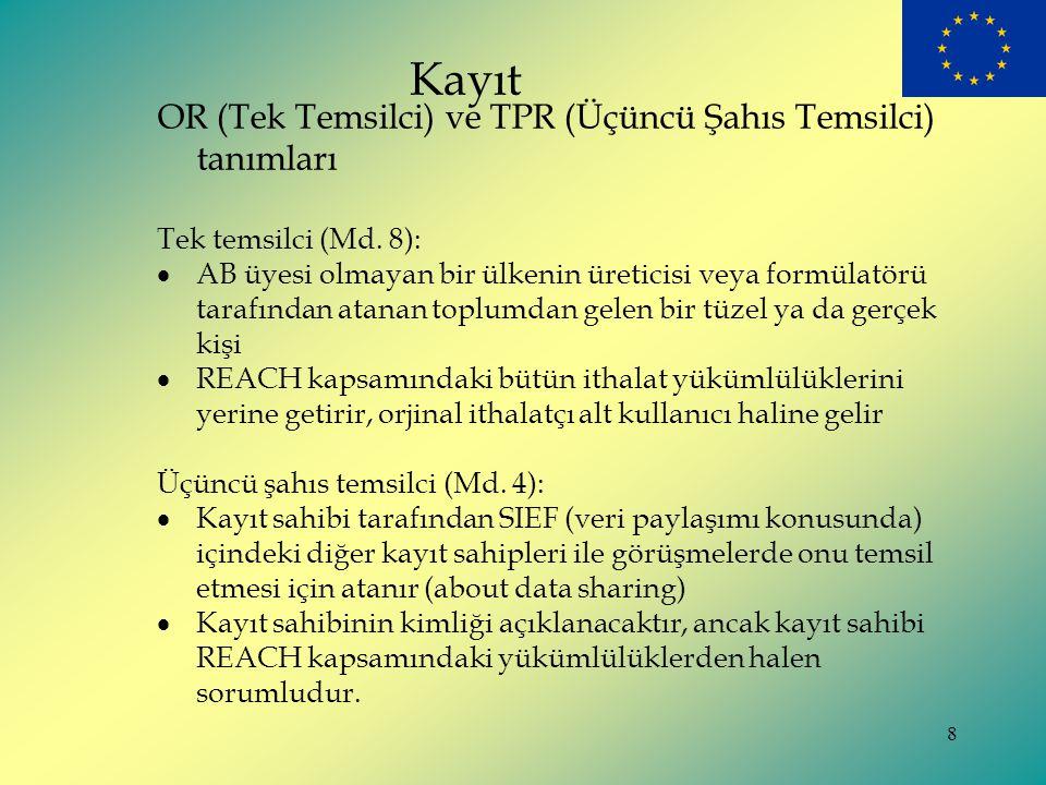 Kayıt OR (Tek Temsilci) ve TPR (Üçüncü Şahıs Temsilci) tanımları