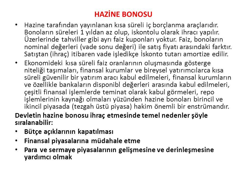 HAZİNE BONOSU