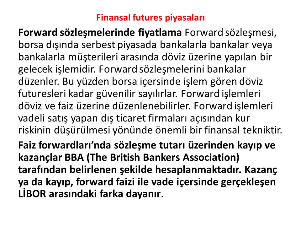 Finansal futures piyasaları