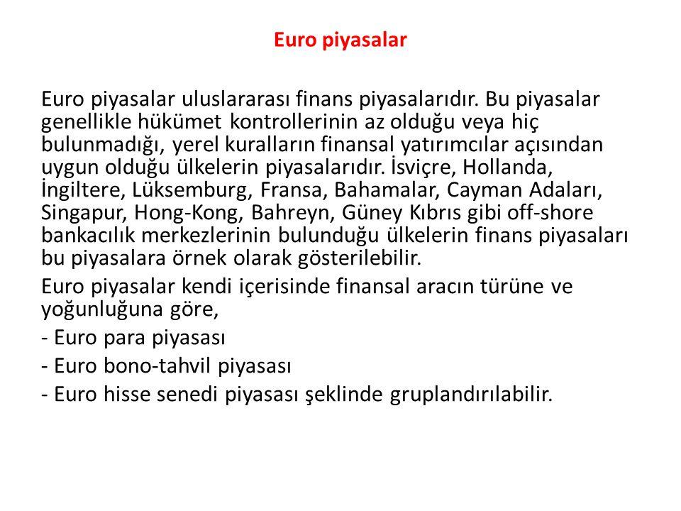- Euro bono-tahvil piyasası