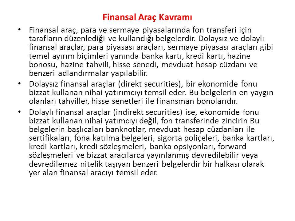 Finansal Araç Kavramı
