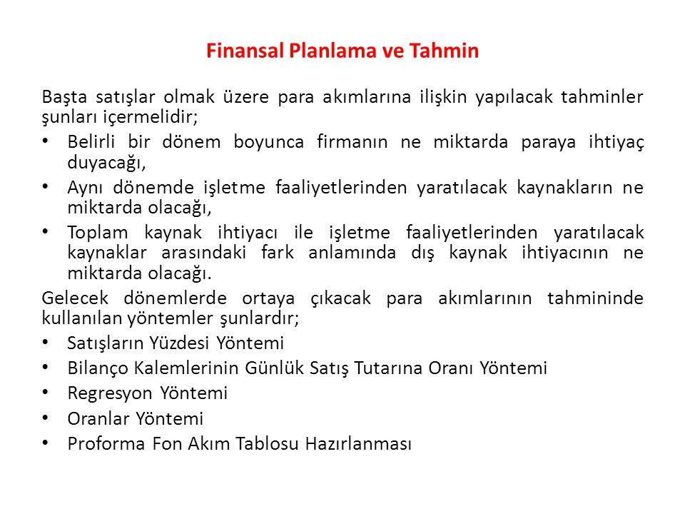 Finansal Planlama ve Tahmin