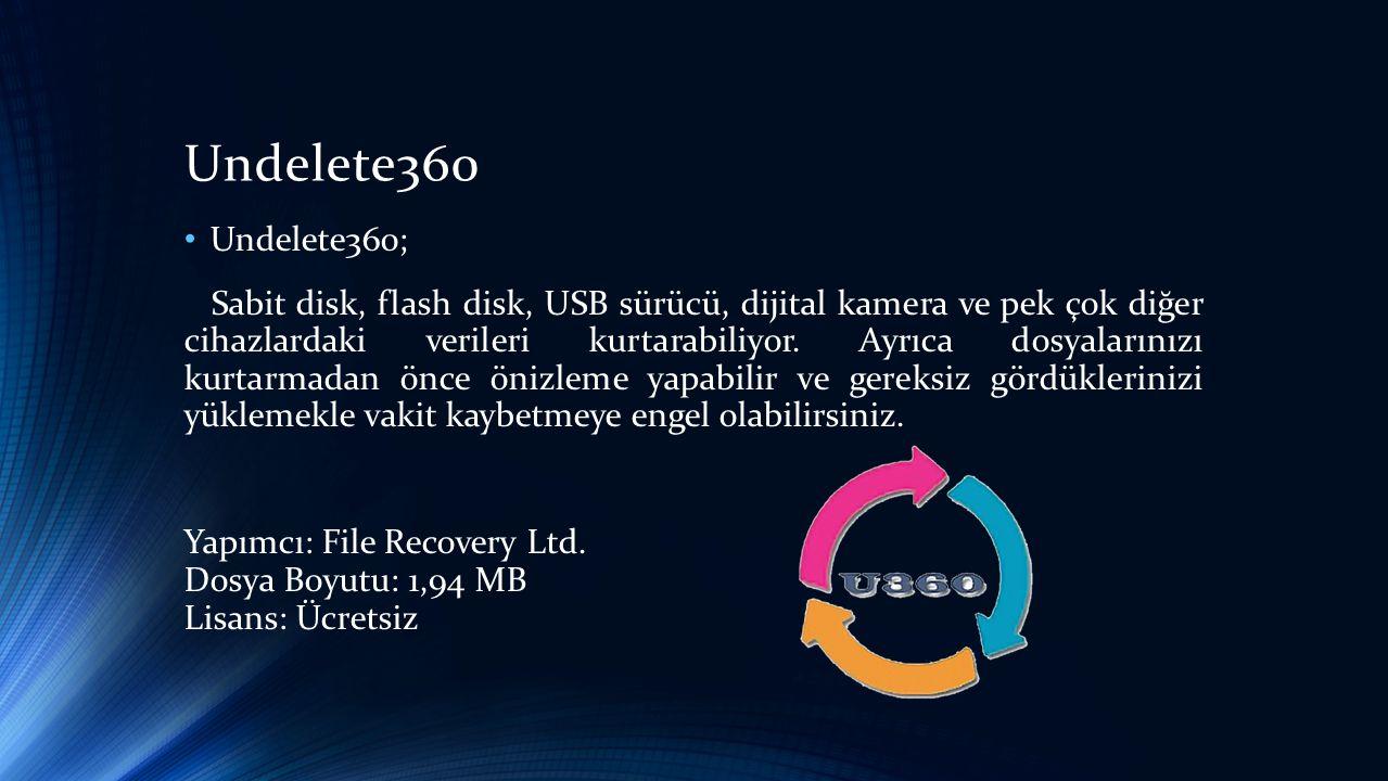 Undelete360 Undelete360;
