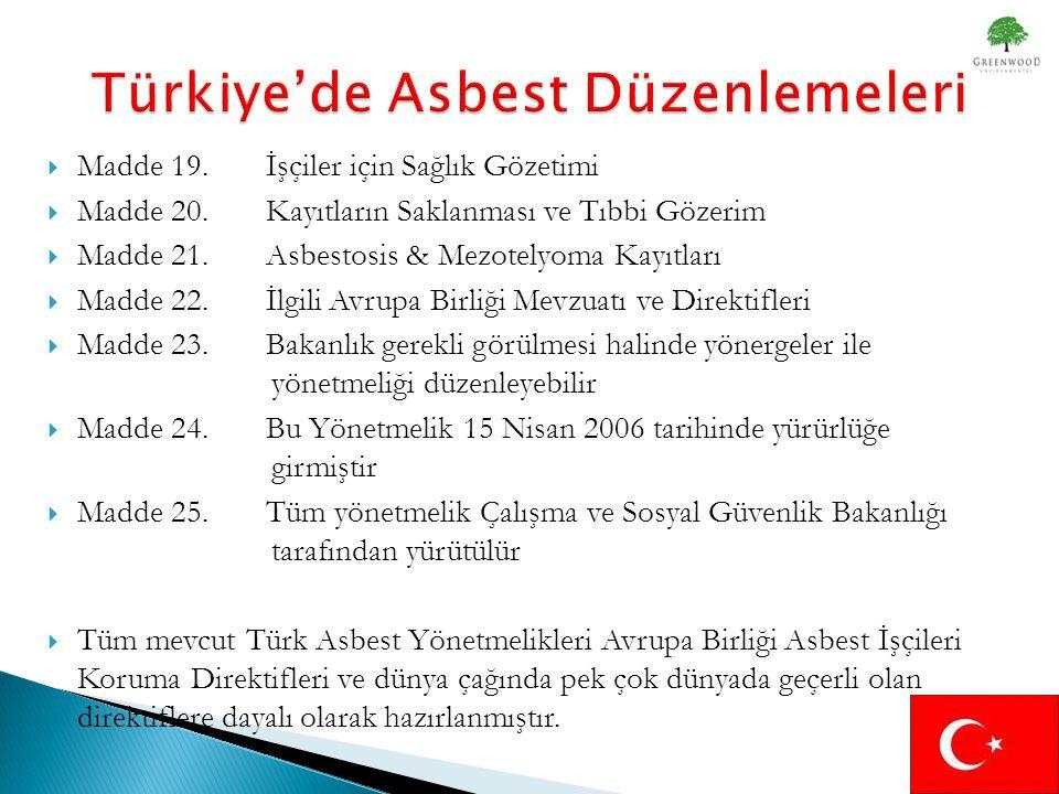 Türkiye'de Asbest Düzenlemeleri