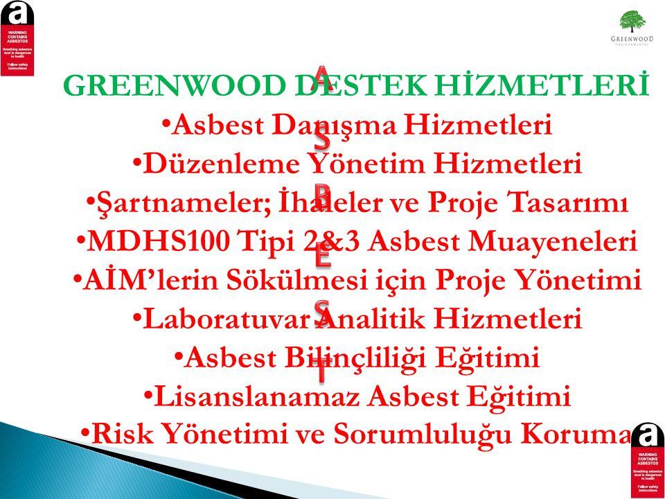 GREENWOOD DESTEK HİZMETLERİ Asbest Danışma Hizmetleri