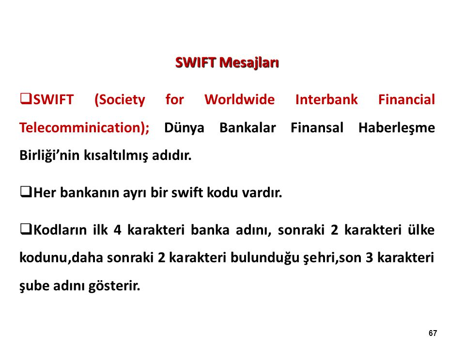 SWIFT Mesajları