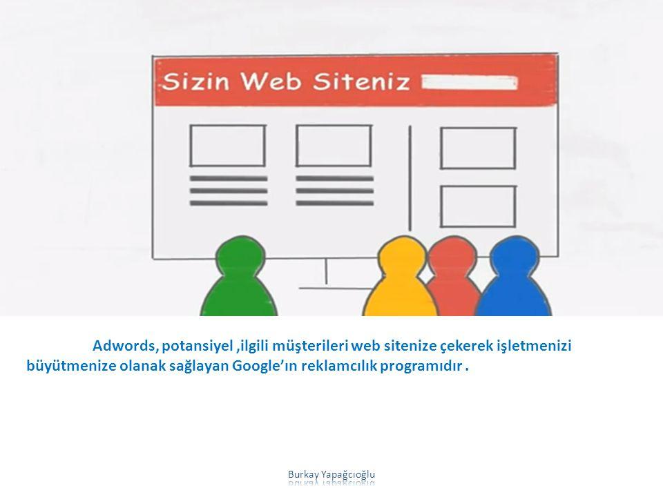 Adwords, potansiyel ,ilgili müşterileri web sitenize çekerek işletmenizi büyütmenize olanak sağlayan Google'ın reklamcılık programıdır .