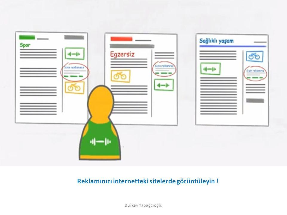 Reklamınızı internetteki sitelerde görüntüleyin !