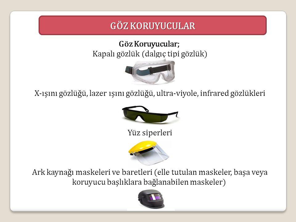 Göz Koruyucular; Kapalı gözlük (dalgıç tipi gözlük)