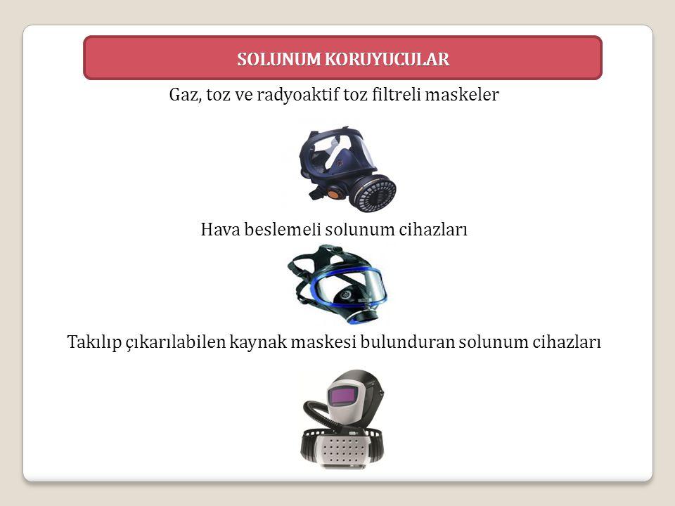 Gaz, toz ve radyoaktif toz filtreli maskeler