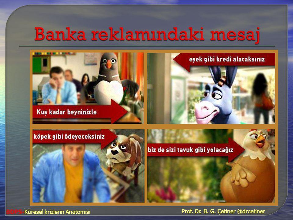 Banka reklamındaki mesaj