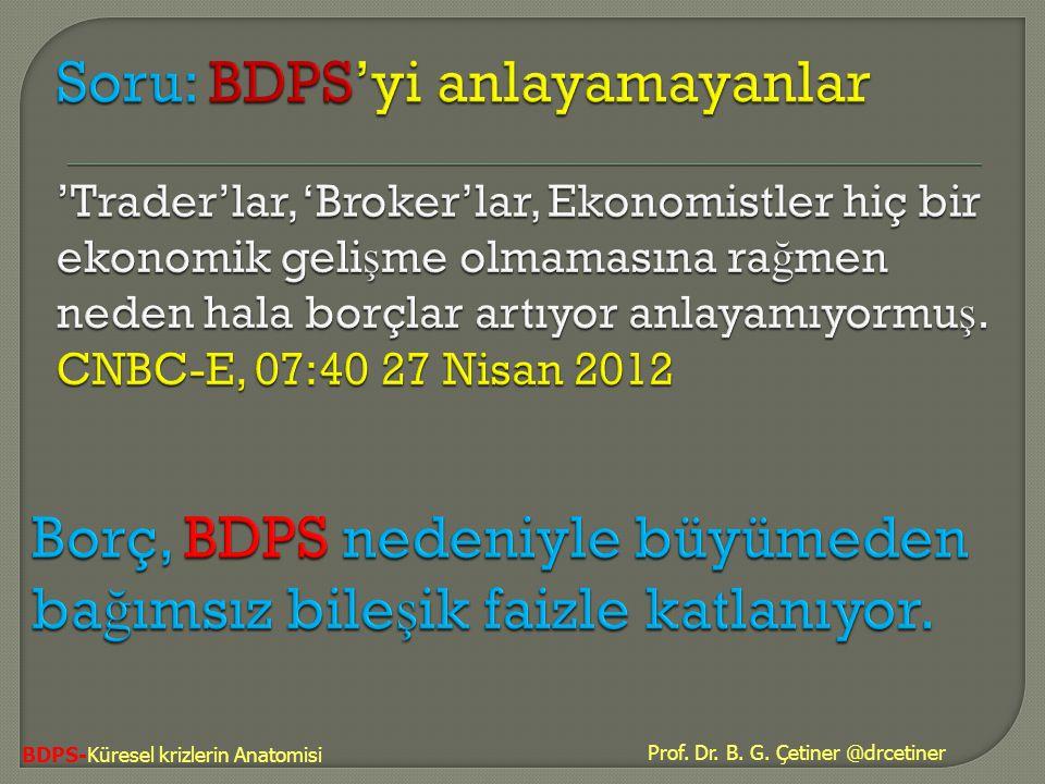 Borç, BDPS nedeniyle büyümeden bağımsız bileşik faizle katlanıyor.