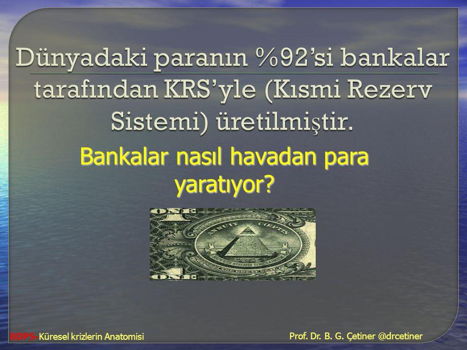 Bankalar nasıl havadan para yaratıyor
