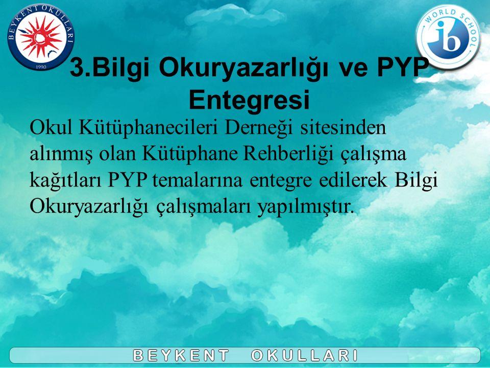 3.Bilgi Okuryazarlığı ve PYP Entegresi