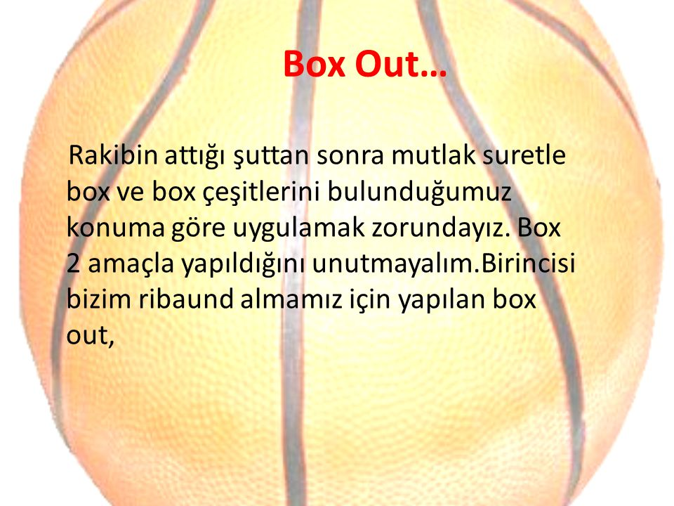 Box Out…