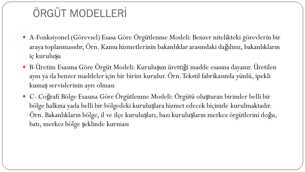 ÖRGÜT MODELLERİ