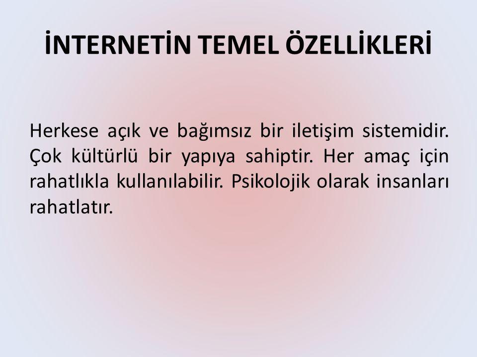 İNTERNETİN TEMEL ÖZELLİKLERİ