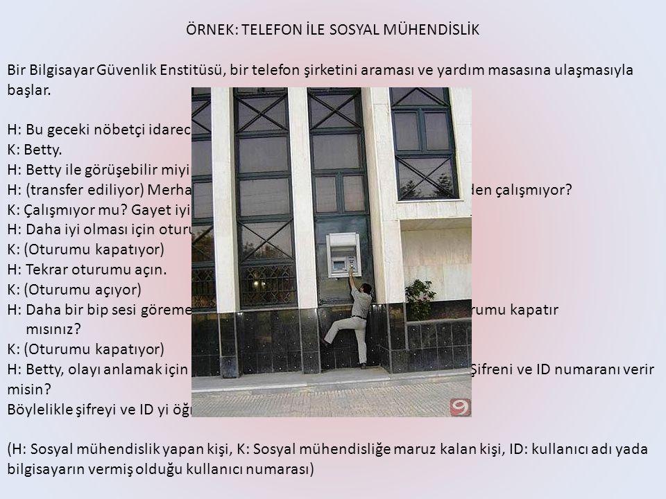 ÖRNEK: TELEFON İLE SOSYAL MÜHENDİSLİK