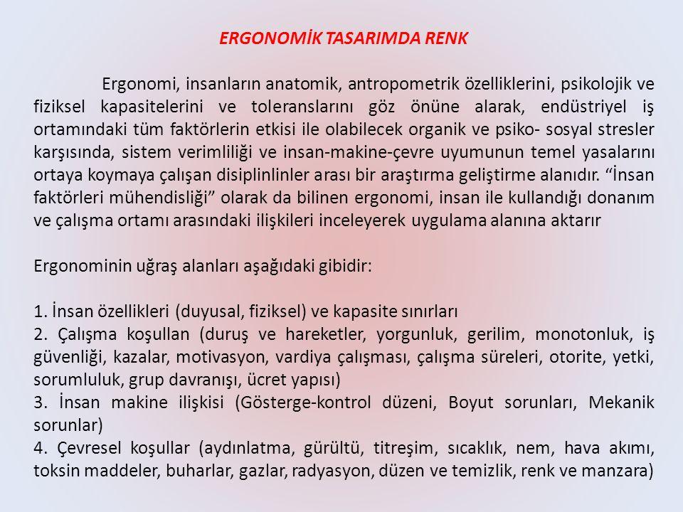 ERGONOMİK TASARIMDA RENK