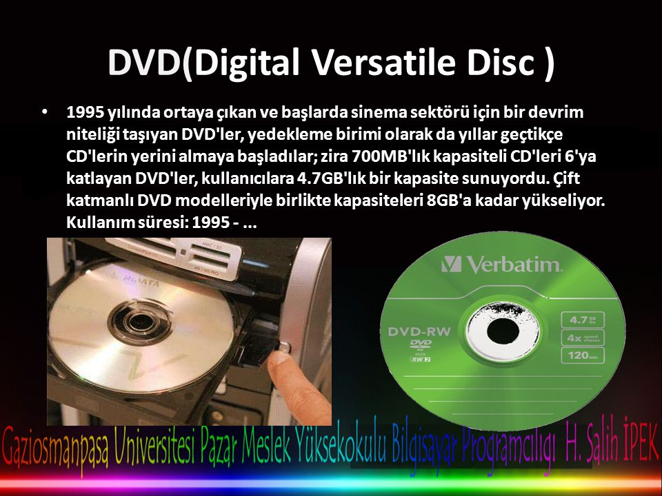 DVD(Digital Versatile Disc )