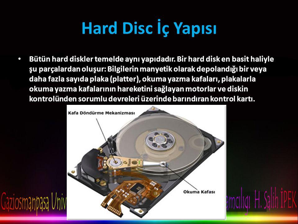 Hard Disc İç Yapısı