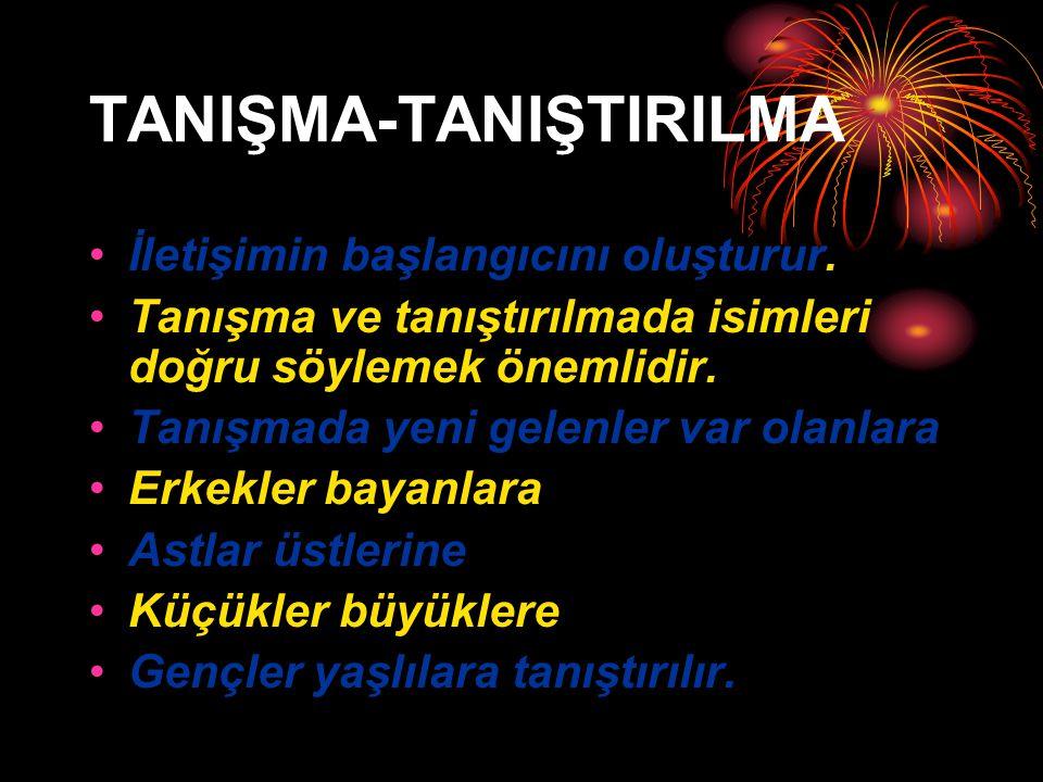 TANIŞMA-TANIŞTIRILMA
