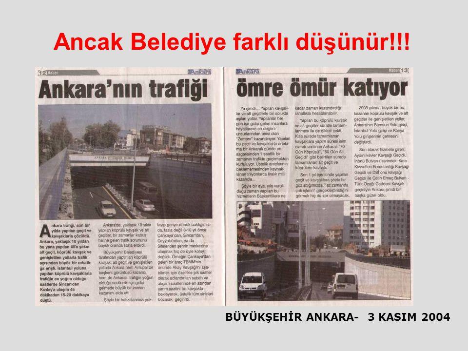 Ancak Belediye farklı düşünür!!!