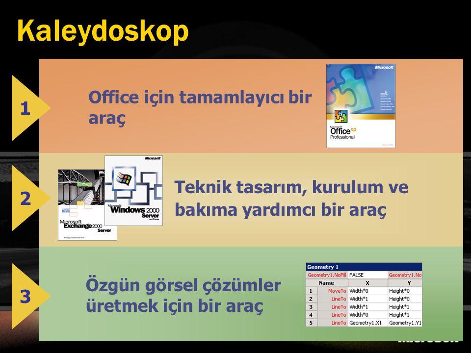 Kaleydoskop 1 2 3 Office için tamamlayıcı bir araç
